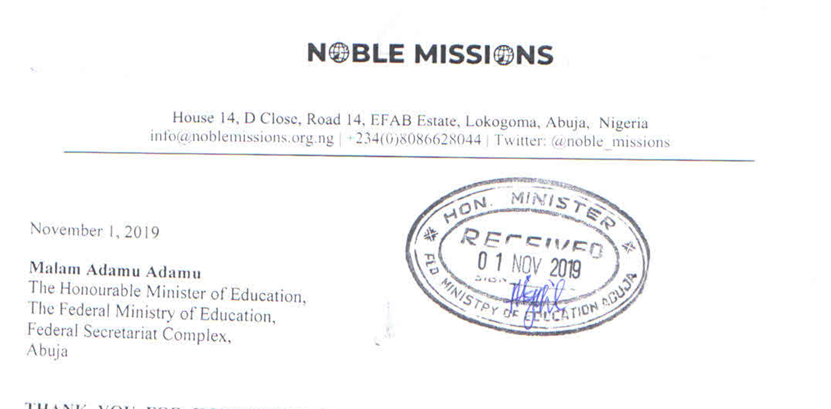 How we empowered some citizens to make recommendations to the Honourable Minister of Education in Nigeria